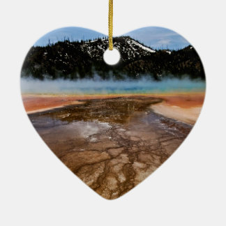 YELLOWSTONE NATIONAL PARK, GRAND PRISMATIC CERAMIC ORNAMENT