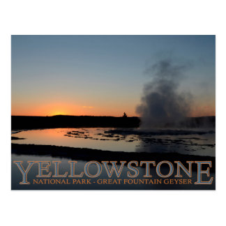 Yellowstone National Park Great Fountain Geyser Postcard