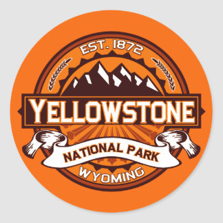 Yellowstone National Park Logo Round Sticker