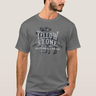 Yellowstone National Park Moose T-Shirt grey