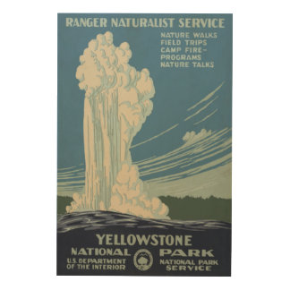 Yellowstone National Park Old Faithful Wood Canvases