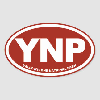 Yellowstone National Park Oval Oval Sticker