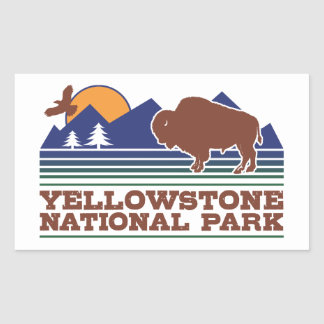Yellowstone National Park Rectangular Sticker