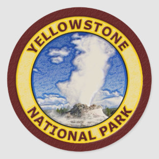 Yellowstone National Park Round Sticker