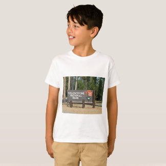 Yellowstone National Park, sign, Wyoming, U. S. T-Shirt