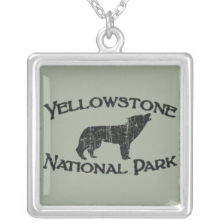 Yellowstone National Park Silver Plated Necklace