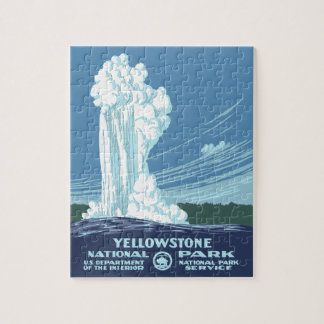 Yellowstone National Park Souvenir Puzzle
