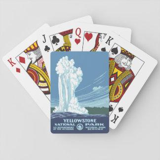 Yellowstone National Park Souvenir - Vintage WPA Poker Deck