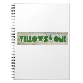 Yellowstone National Park Spiral Notebook