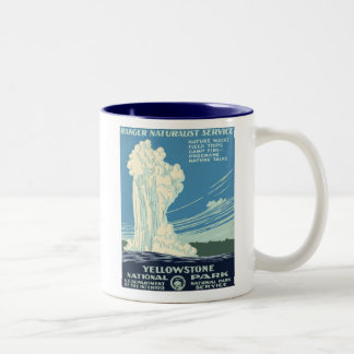Yellowstone National Park Two-Tone Coffee Mug