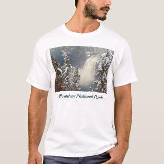 Yellowstone National Park Upper Falls Snowstorm T-Shirt