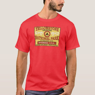 Yellowstone National Park Vintage Label T-Shirt