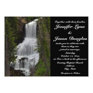 Yellowstone National Park Waterfall Wedding Invite