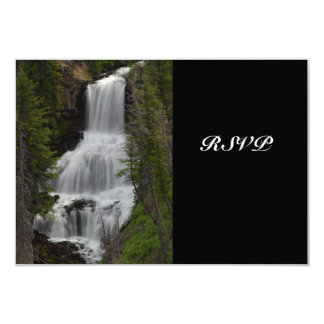 Yellowstone National Park Waterfall Wedding RSVP Card