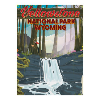 Yellowstone National Park, Wyoming travel poster
