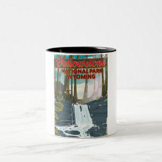 Yellowstone National Park, Wyoming USA Two-Tone Coffee Mug
