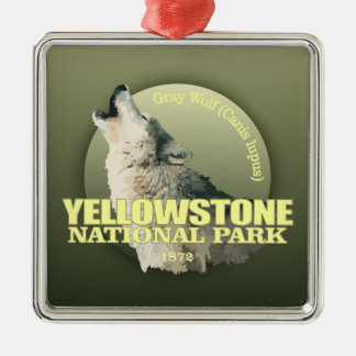 Yellowstone NP (Gray Wolf) WT Metal Ornament