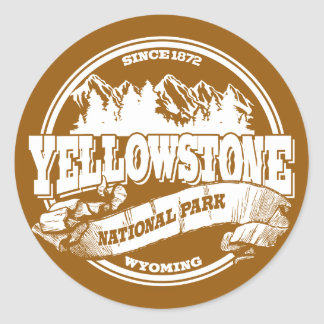 Yellowstone Old Circle Gold Classic Round Sticker