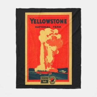 Yellowstone, Old Faithful Advertising Poster Fleece Blanket