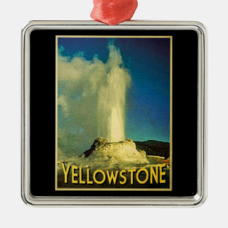 Yellowstone Old Faithful Metal Ornament