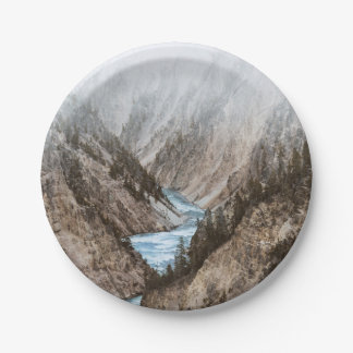 Yellowstone Paper Plate