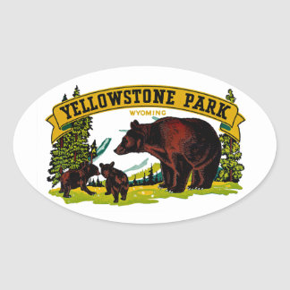 Yellowstone Park Oval Sticker