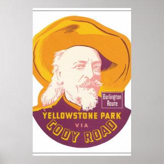 Yellowstone Park Vintage Travel Poster Artwork