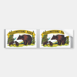 Yellowstone Park Wyoming, Vintage Car Bumper Sticker