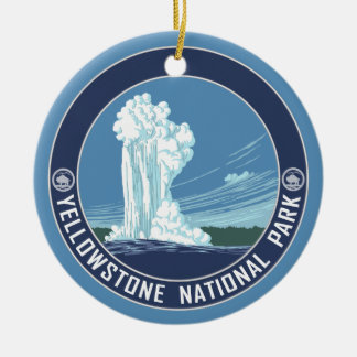 Yellowstone Souvenir - SINGLE-SIDED Ceramic Ornament