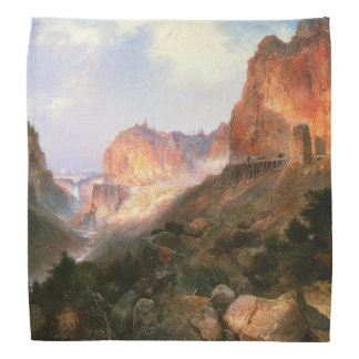 Yellowstone Waterfall Mountains Light Bandana