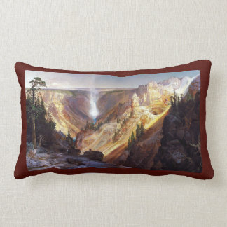 Yellowstone Waterfall Wilderness Throw Pillow