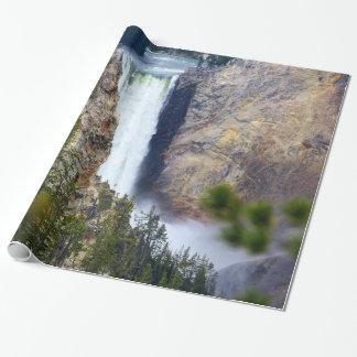 YELLOWSTONE WATERFALL WRAPPING PAPER