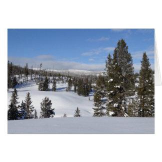 Yellowstone Winter Landscape Photo Card
