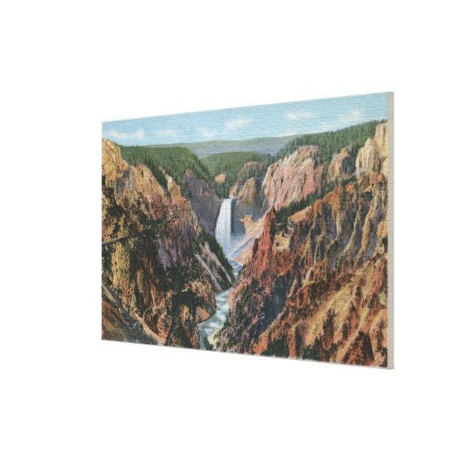 Yellowstone, WYfrom Artist's Point Stretched Canvas Prints