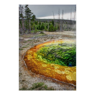 YELLOWSTONE'S MORNING GLORY POOL POSTER