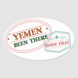 Yemen Been There Done That Oval Sticker