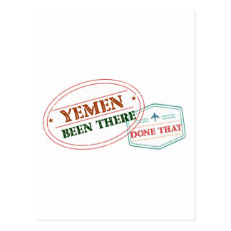 Yemen Been There Done That Postcard