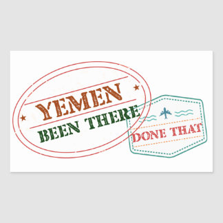 Yemen Been There Done That Rectangular Sticker