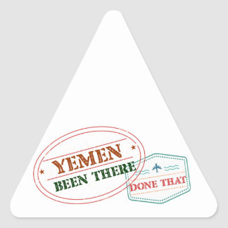 Yemen Been There Done That Triangle Sticker