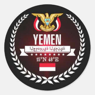 Yemen Classic Round Sticker