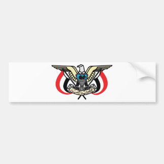 Yemen coat of arms bumper sticker