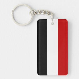 yemen country long flag nation symbol name key ring