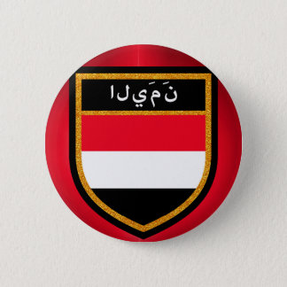 Yemen Flag 6 Cm Round Badge