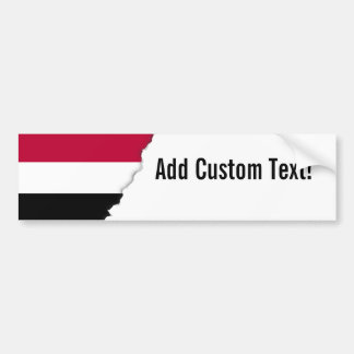 Yemen flag bumper sticker