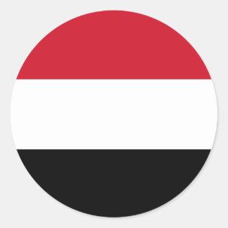 Yemen Flag Classic Round Sticker