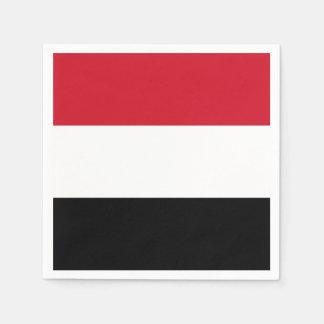 Yemen Flag Disposable Serviette