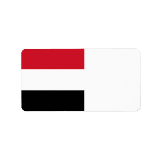 Yemen Flag Label
