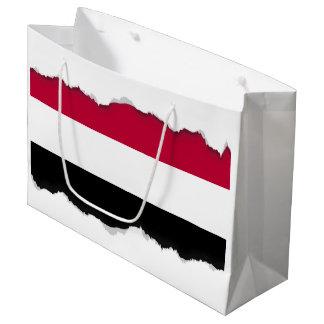 Yemen flag large gift bag