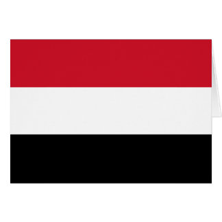 Yemen Flag Note Card