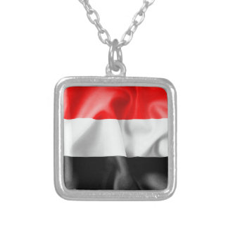 Yemen Flag Pendant Necklace